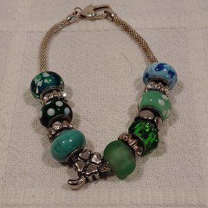 Dione Green Beaded Bracelet